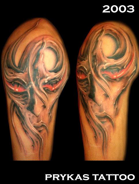 prykas tattoo demonic black bray