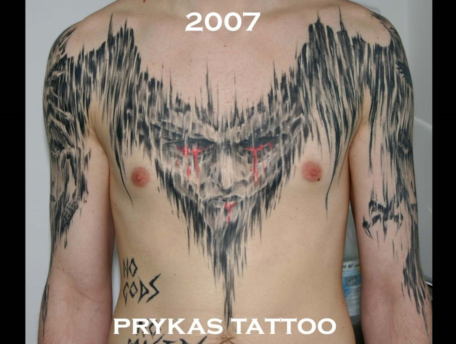 prykas tattoo demonic body full free style