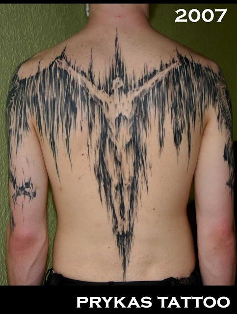 prykas tattoo jesus jezus demonic