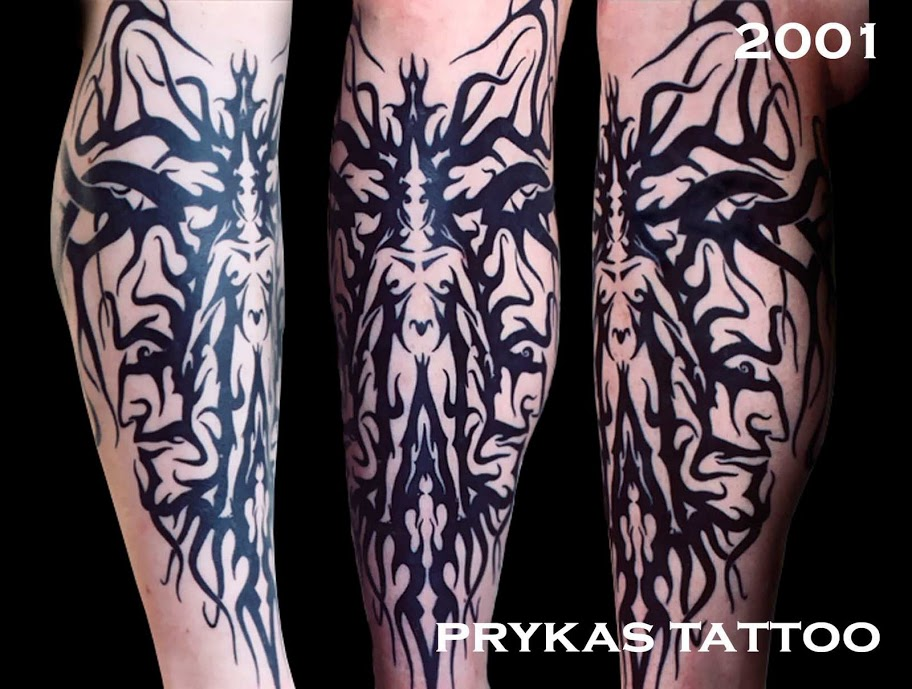 prykas tattoo trybal tribal face body